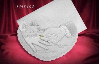 Parmaktaki Alyans Düğün Davetiyesi