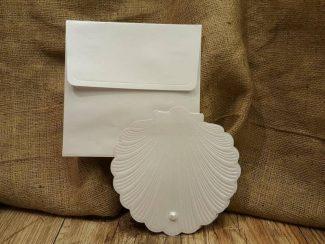 İlginç davetiye, deniz kabuğu şeklinde