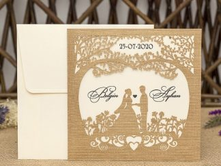 Lazer Kesim Düğün Davetiyesi