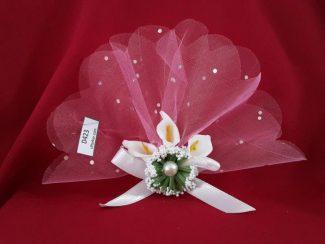 Orkide çiçekli nikah şekeri