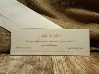 Lüks davetiye, sıvamalı ve sade düğün davetiyesi