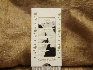 Hareketli resimli davetiye modeli, beyaz