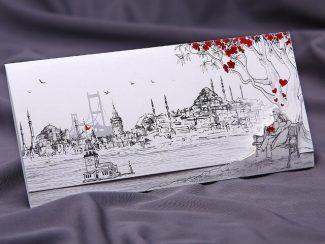İstanbul Davetiye Modelleri - Üsküdar, boğaz manzaralı