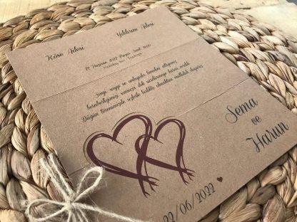 Ekonomik Kraft Düğün Davetiyesi