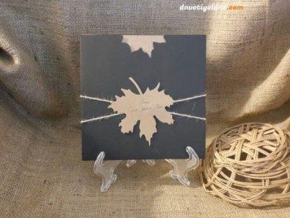 Çınar Yaprağı Davetiye Modeli