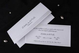Beyaz Düğün Davetiyesi