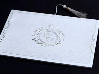 Gümüş Sade Davetiye Modeli
