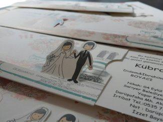 Çift Taraflı Düğün Davetiyesi