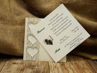 Resimli sade düğün davetiyesi