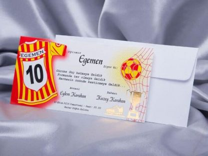 Galatasaray Sünnet Davetiyesi ve Beyaz Buklet Zarfı - 4950