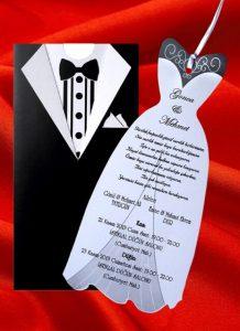 Eko Damatlık Düğün Davetiyesi