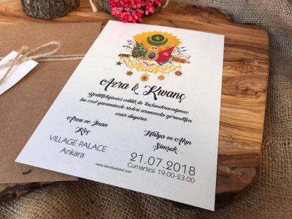 Osmanlı Düğün Davetiyesi