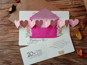 Aşke mektubu şeklinde düğün davetiyesi