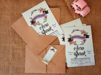 2017 Düğün davetiyesi modeli