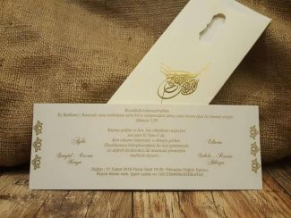 Tuğralı düğün davetiyesi