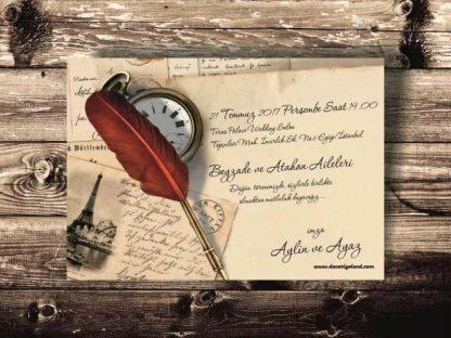 mektup davetiye modeli