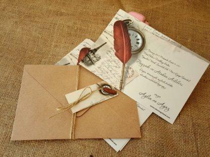Mektup şeklinde düğün davetiyesi