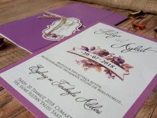 mor zarflı davetiye