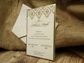 Mühürlü davetiye, lüks sade ve tuğralı