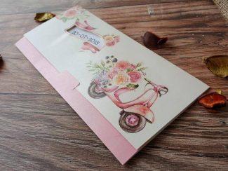 Vespa motorsiklet resimli davetiye modeli