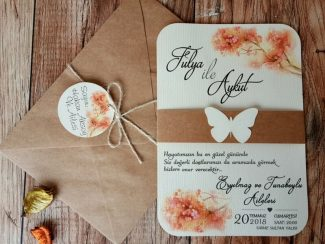 Kelebekli davetiye