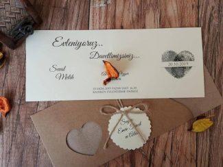 parmak izli düğün davetiyesi
