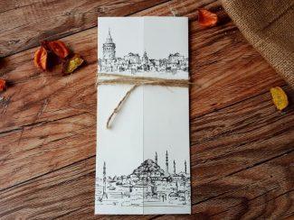 Siyah-Beyaz İstanbul Davetiye Modeli