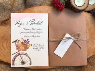 bisikletli davetiye modeli
