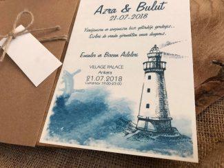 Deniz Feneri Düğün Davetiyesi