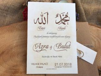 Dini Düğün Davetiyesi