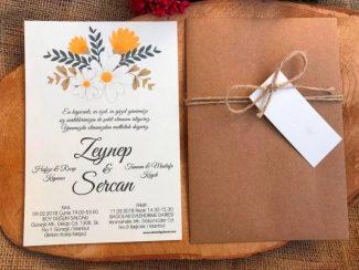 Papatyalı Düğün Davetiyesi 02
