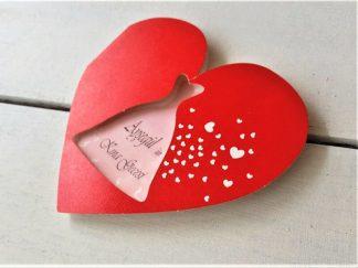 Kırmızı Kalp Kına Davetiyesi - 03704