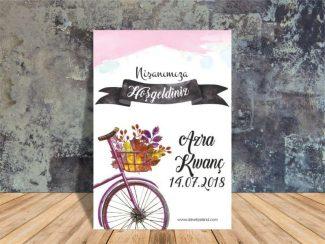 Bisikletli Nişan Panosu
