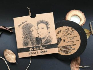 Resimli Plak Düğün Davetiyesi