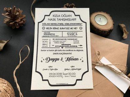 Dedikodulu Düğün Davetiyesi