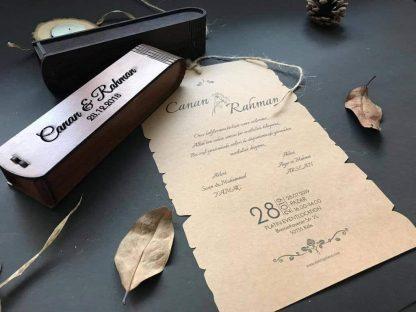 Ahşap Kutu Düğün Davetiyesi