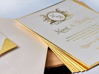 Kalın Sade Düğün Davetiyesi