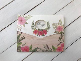 Çiçekli Zarfsız Davetiye