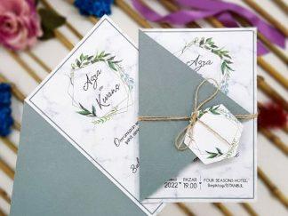Hasır ip ve etiket aksesuarlı, üçgen yeşil kapaklı ucuz - 0707204