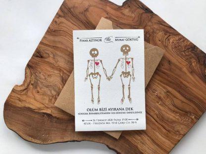 iskeletli davetiye modeli