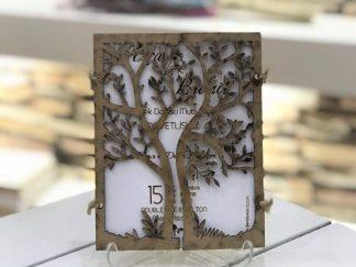 Kesimli Ağaçlı Davetiye - 9856