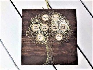 Aile Ağacı Nikah Davetiyesi