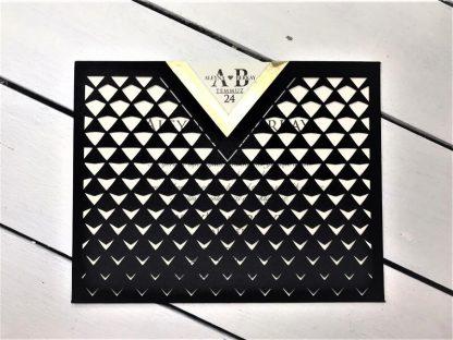 Siyah Haleli Zarflı Davetiye Modeli 2998422