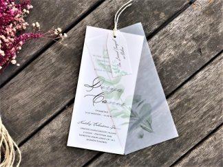 Dikine, yaprak baskılı aydıngerli davetiye modeli